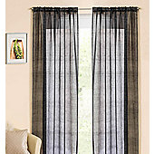 Casablanca Rod Pocket Voile Panel - Black