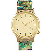 Komono Wizard Print Peacock Watch - KOM-W1821