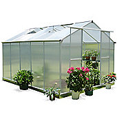 Nison EaZi-Click 10X8 Aluminium Polycarbonate Greenhouse in Silver including Base