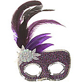 Purple Masked Ball Mask