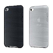 Belkin Components Grip Groove Case for iPod Touch (2 Pack) - Black/Clear