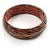 Zebra Print Wood Fashion Bangle