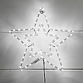 White LED Star Rope Light Silhouette