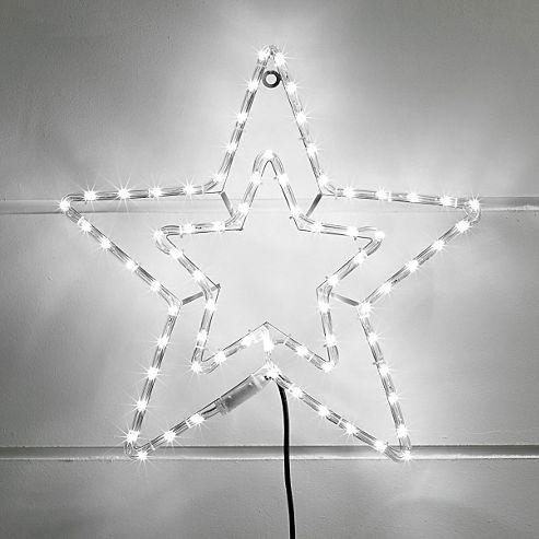 Led String Lights Tesco : Buy White LED Star Rope Light Silhouette from our All Christmas range - Tesco