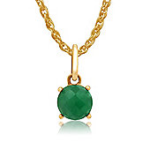 Gemondo Amour Damier 9ct Yellow Gold 0.72ct Claw Set Emerald Pendant on 45cm Chain