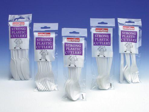 Caroline 1512 Plastic Spoons White X8