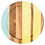 Tesco Round Wood Stripe Tray