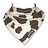 Skibz Bandana Dribble Bib - Brown Cow