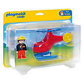 Playmobil 1, 2, 3 Fire Helicopter 6789