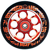 Madd Gear MGP Aero Skull Wheel 100mm inc Bearings - Red