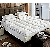 Goose Feather And Down Luxury Mattress Enhancer Bed Topper Double Bed
