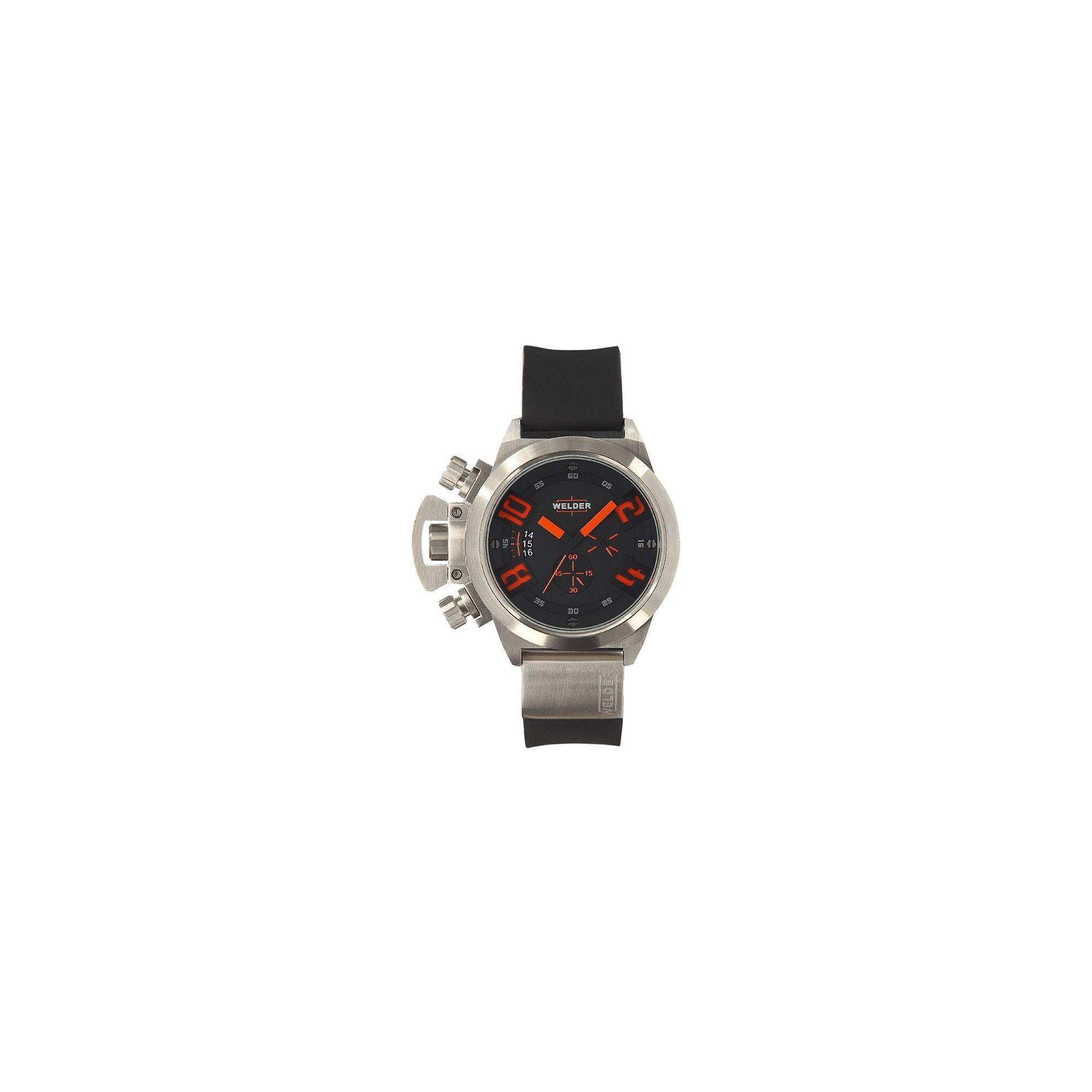 Welder Gents Black Dial Black Rubber Strap Watch K24-3201 at Tesco Direct