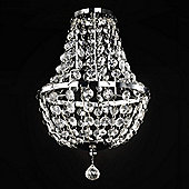 MiniSun Empire Ceiling Pendant Light Chandelier Shade in Chrome