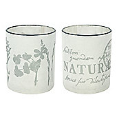 Eightmood Vegetabilia Glass Votive (Set of 2)