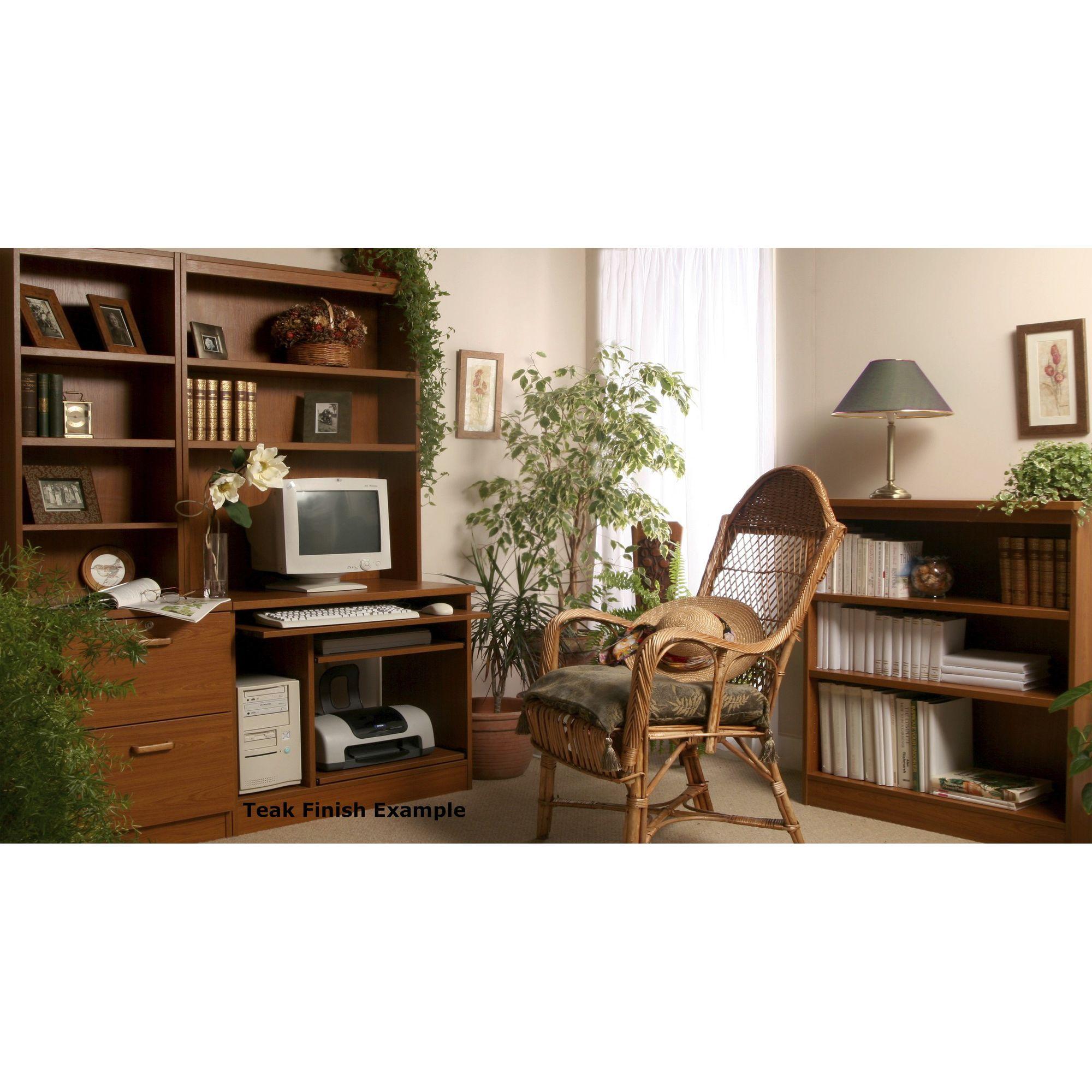 Enduro Two Drawer Wooden Filing Cabinet - Teak at Tesco Direct