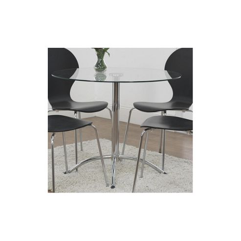 Furniture Link Soho Round Dining Table in Glass
