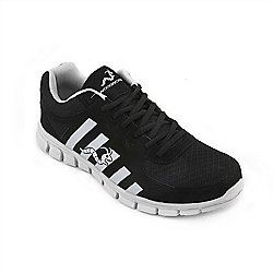 Woodworm Sports Ctg Mens Running Shoes / Trainers Black/Silver Size 7.5