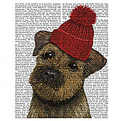 Dog Canvas 35x35cm