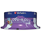 Verbatim DVD+R 8.5GB 8x Double Layer Inkjet Printable (Pack of 25)