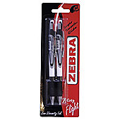 Zebra Z-Grip Flight Black 2 Pack