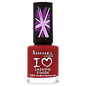 Rimmel London I Love Lasting Finish Nail Polish 030 Double Decker Red