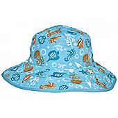 Banz Baby Reversible Sun Hat - Sea Creatures (Aqua) 0-2 yrs
