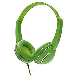 Groov-e GV897 Streetz Stereo Headphones with Volume Control Green