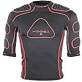 Kooga Rugby IPS Elite Junior Shoulder Pads / Body Armour IRB Approved All Sizes - Black & Red