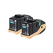 Epson AL-C9300N Double Pack Toner Cartridge Cyan 7.5kx2