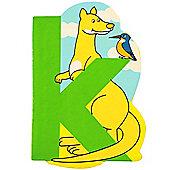 Bigjigs Toys BJL111 Wooden Magnetic Animal Letter Lowercase K (Designs Vary)