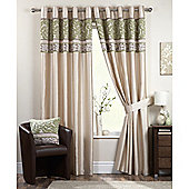 Curtina Coniston Eyelet Lined Curtains 66x72 inches (168x183cm) - Black