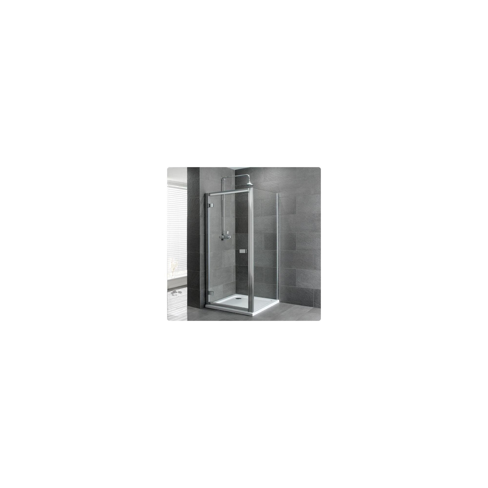 Duchy Select Silver Hinged Door Shower Enclosure, 700mm x 700mm, Standard Tray, 6mm Glass at Tesco Direct