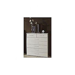 Amos Mann furniture Venice 7 Drawer Chest of Drawer - White