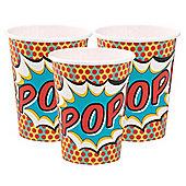 Pop Art Superhero Party Cups - 9oz Paper