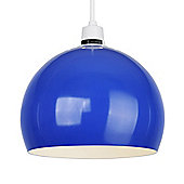 Arco Metal Ceiling Pendant Light Shade in Blue