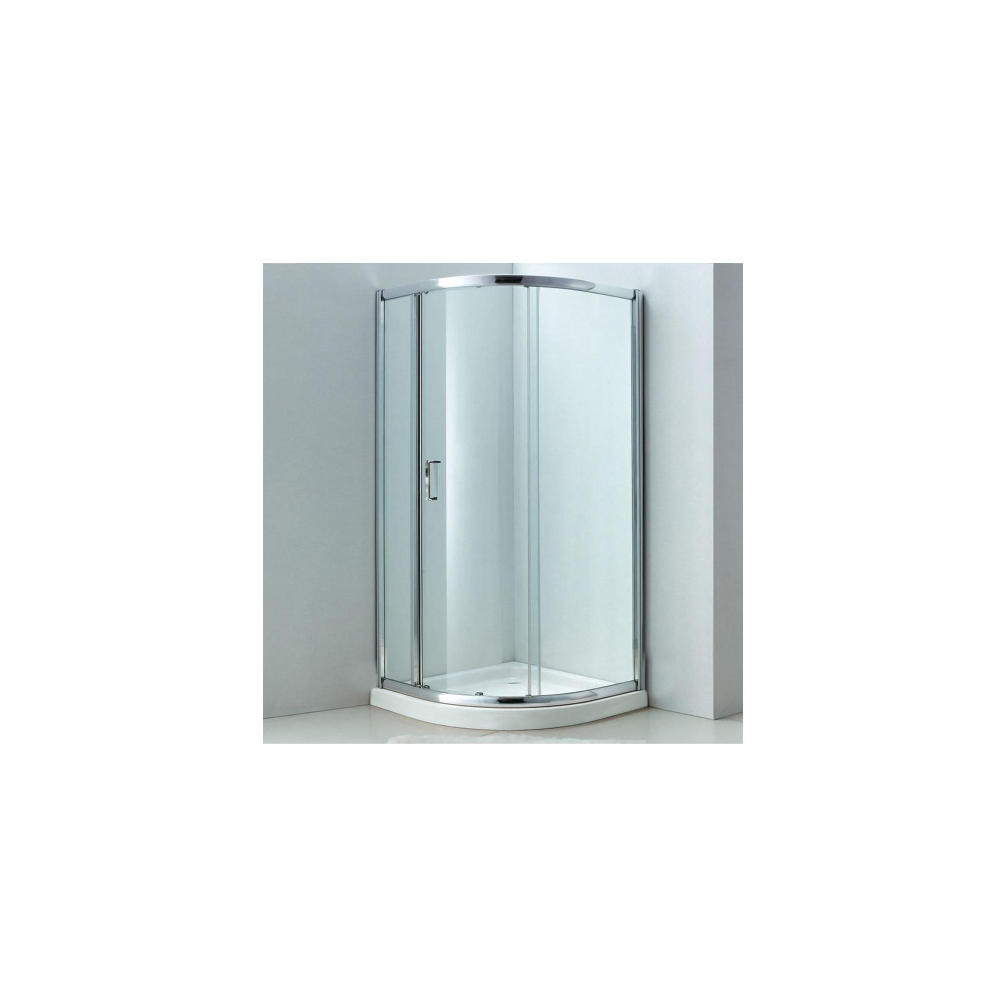 Duchy Style Single Offset Quadrant Door Shower Enclosure, 1200mm x 800mm, 6mm Glass, Low Profile Tray, Left Handed at Tesco Direct
