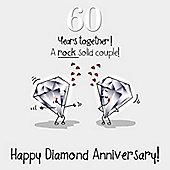 60th Wedding Anniversary Greetings Card - Diamond Anniversary