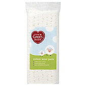 Tesco Loves Baby Cotton Wool Pads Square, 50 pack
