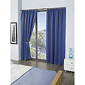 Cali Blackout Pencil Pleat Curtains - Blue