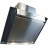 ElectriQ 60cm Angled Glass and Steel Designer Cooker Hood
