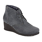 Pavers Wedge Ankle Boot - Grey