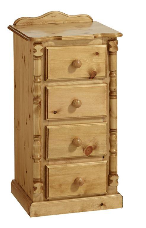 Ideal Furniture Ashley 4 Drawer Bedside Table