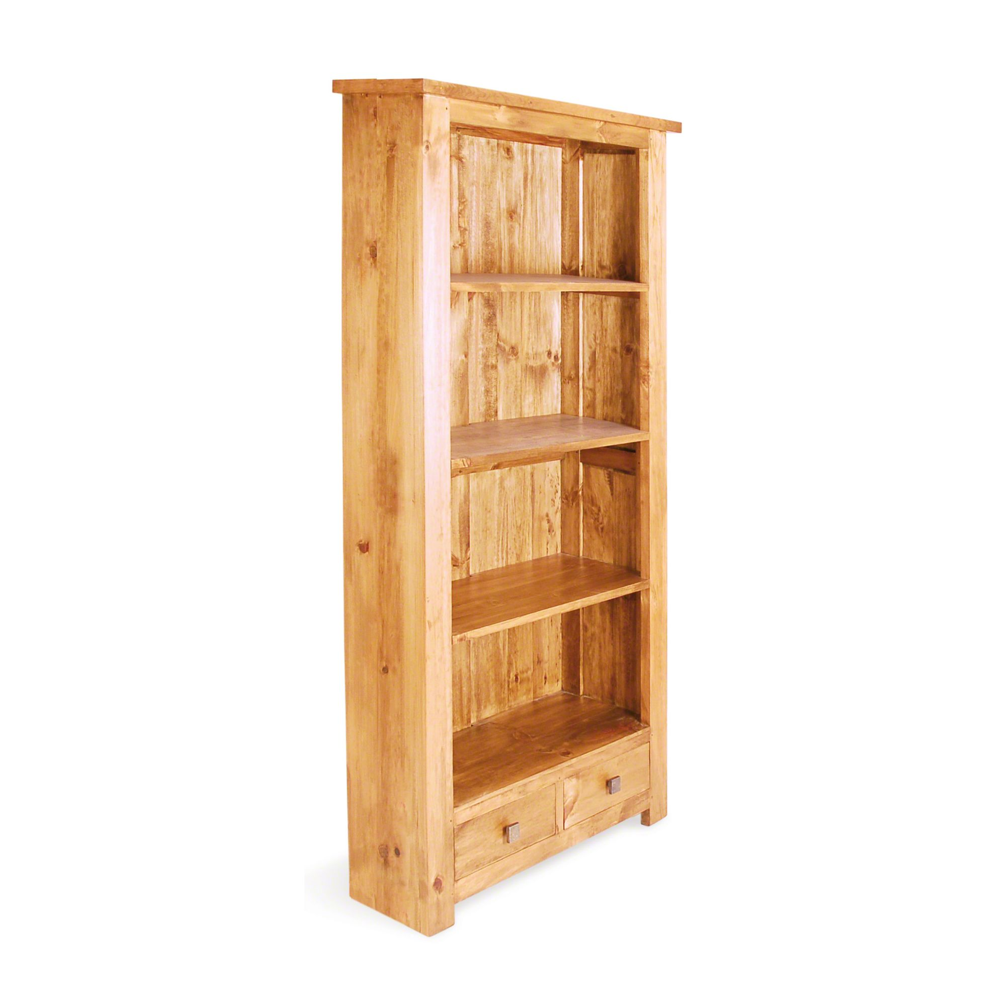 Oceans Apart Brest Pine 2 Drawer Slim Bookcase Opt Size at Tesco Direct