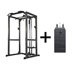 Bodymax CF475 Heavy Power Rack System with Lat/Low Pulley and 95Kg Selectorised Weight Stack