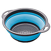 Colourworks Collapsible Colander 24cm Blue