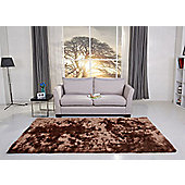 Leader Lifestyle Valencia Hazel Brown Tufted Rug - 140 cm x 200 cm (4 ft 7 in x 6 ft 7 in)