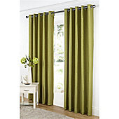 Dreams and Drapes Java Lined Eyelet Faux Silk Curtains 66x72 inches (168x183cm) - Moss