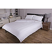 Deyongs 1846 300 Thread Count Sateen Stripe 100% Cotton Bed Sets King White
