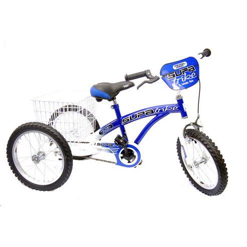 "Concept Pedal Pals 16"" Wheel Trike, Blue/White"