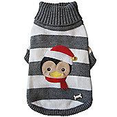 "Pet London Christmas Knit Penguin Sweater 14"" X-Large Dog Clothing Jumper"